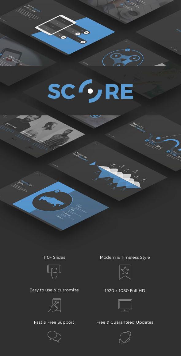 Preview Score Keynote theme