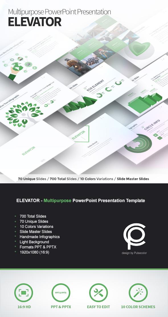 ELEVATOR multipurpose powerpoint template