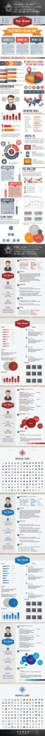 Preview Business Infographic & Resume design Update Icon