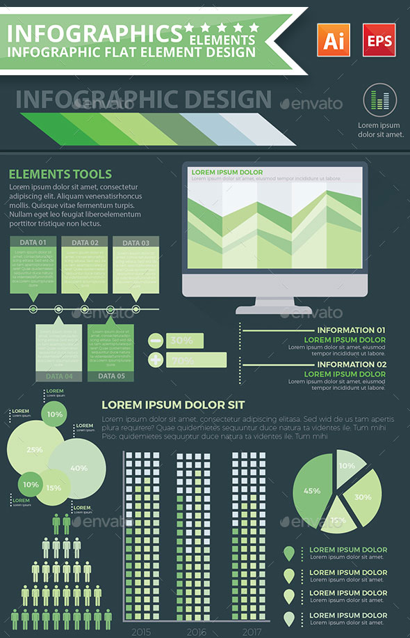 infographics green