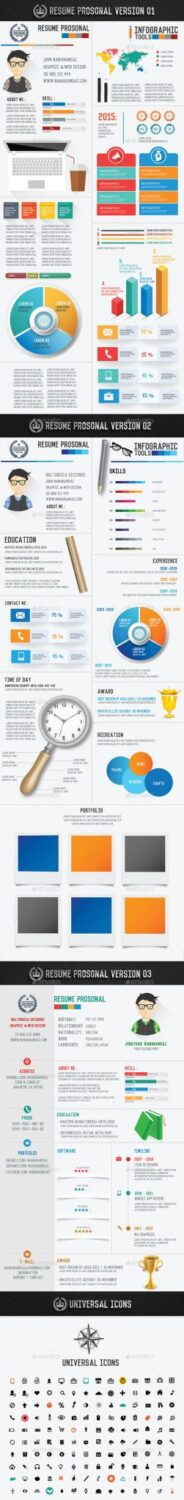 Preview Infographic Resume