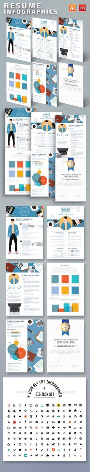 Preview Resume Infographics Design (1)