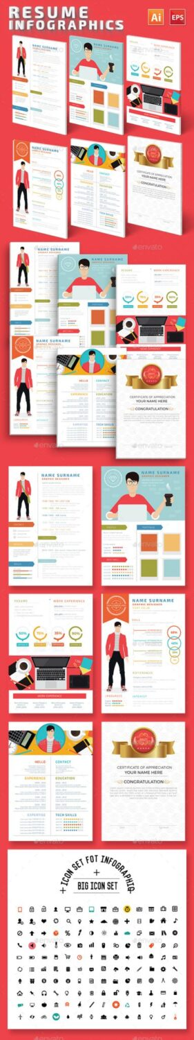 Preview Infographic Resume Design
