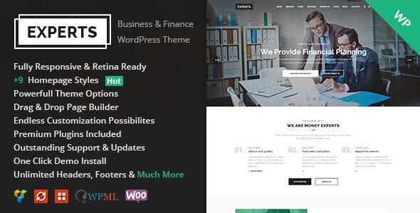 experts finance wordpress theme