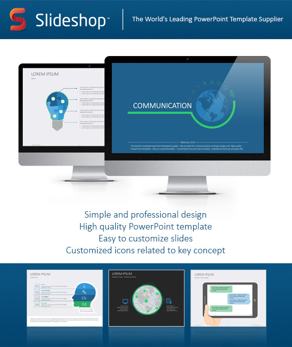 Communication flat powerpoint