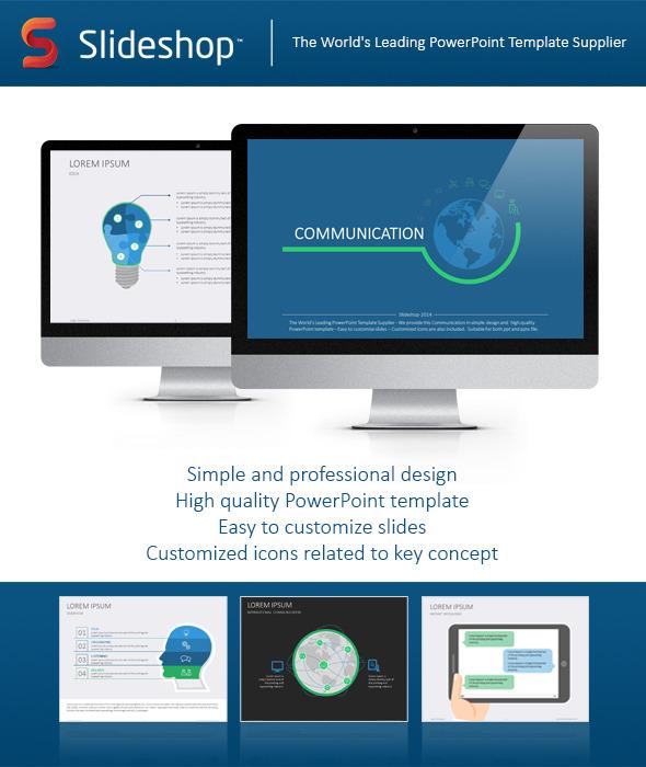 Communication flat powerpoint