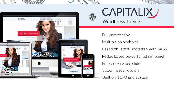 Capitalix — Business, Finance WordPress theme