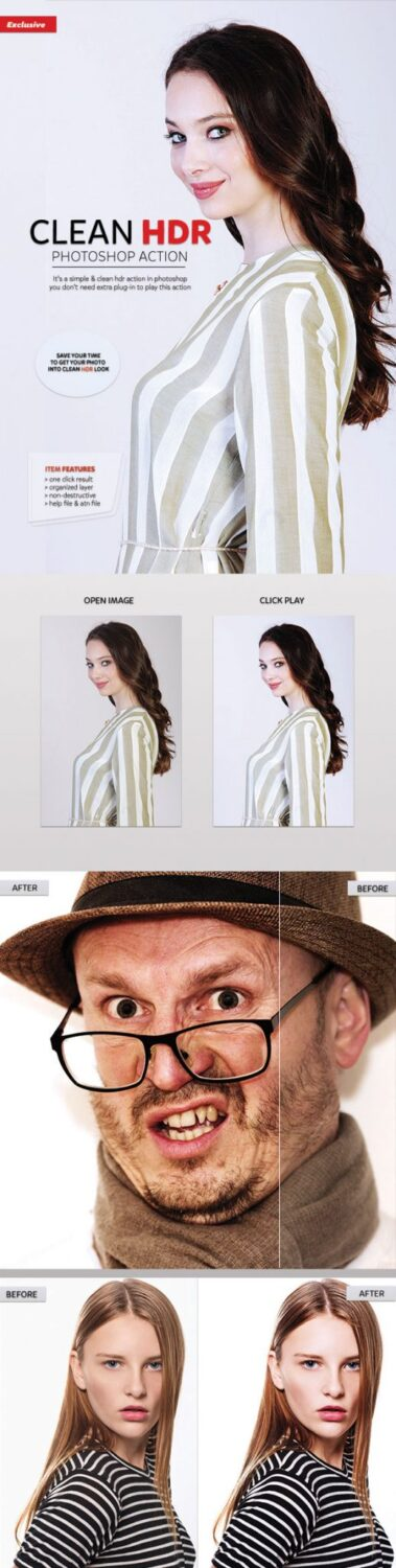 clean hdr photoshop actions