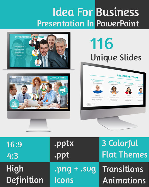 preview flat powerpoint