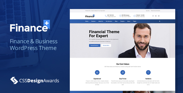 financeplus finance wordpress theme