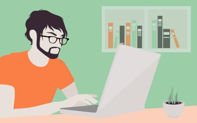 Man With Laptop Illustration