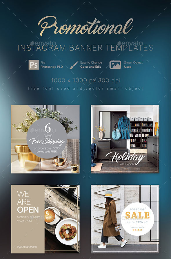 Instagram Advertising 101 Awesome Ad Templates For Download
