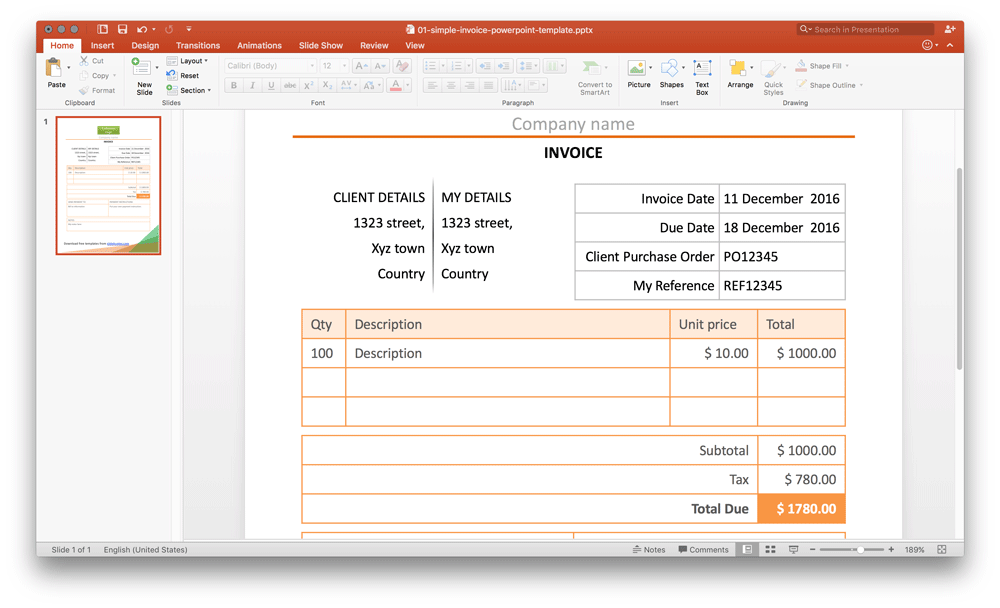 simple-invoice-powerpoint-template