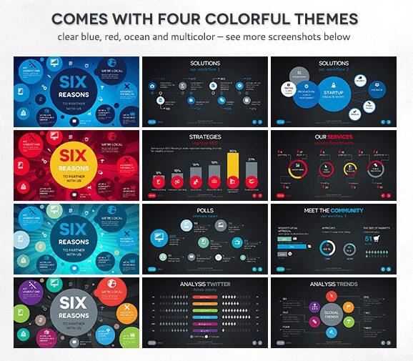 5 best keynote templates 4 color schemes