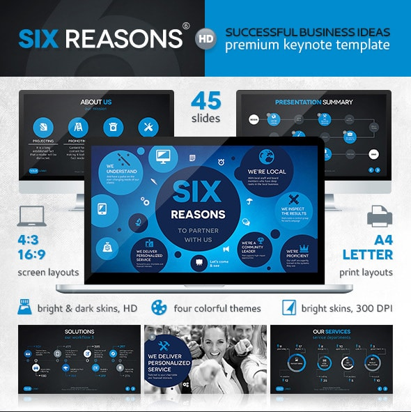 six reasons keynote templates