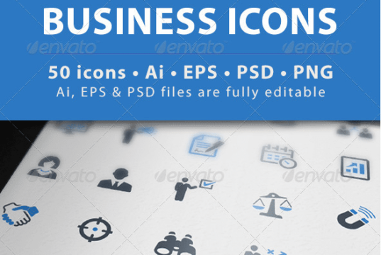 business icons set 1