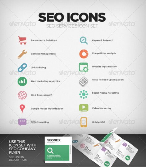 business icons set 5