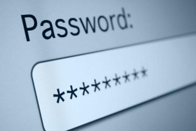 computer activity Password update