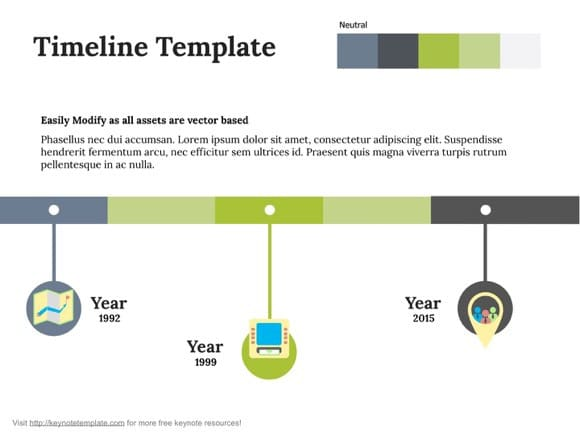 free powerpoint timeline