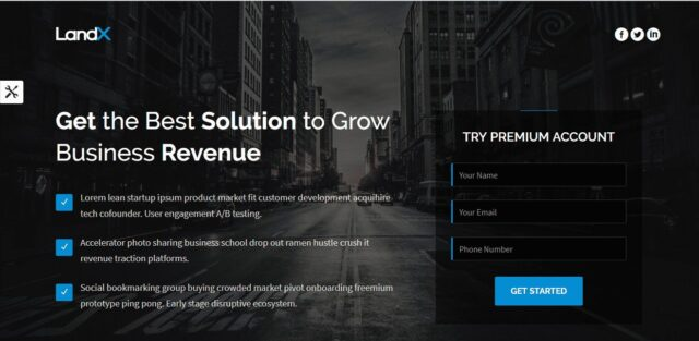 landing page conveting page clicks