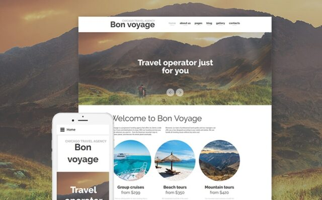 Bon Voyage – Travel Agency & Vacation planning Responsive Joomla Template