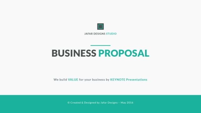modern keynote template -business Proposal