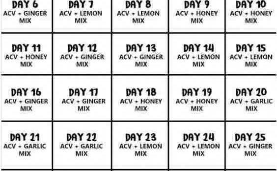 Apple cider vinegar 30 day challenge