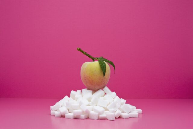 Amount of sugar in an apple