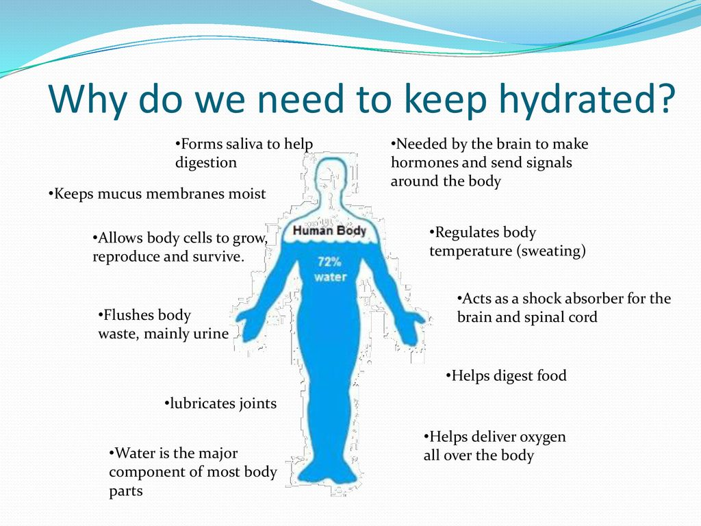 keep hydrated