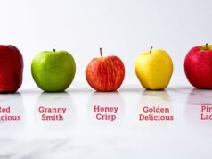 How many calories in small apple honeycrisp?