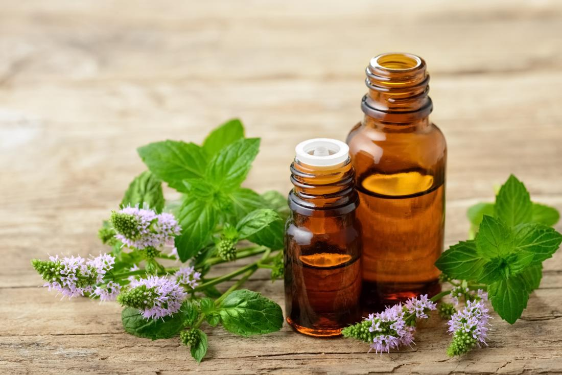 peppermint oil and leaves-apple cider vinegar ear infection