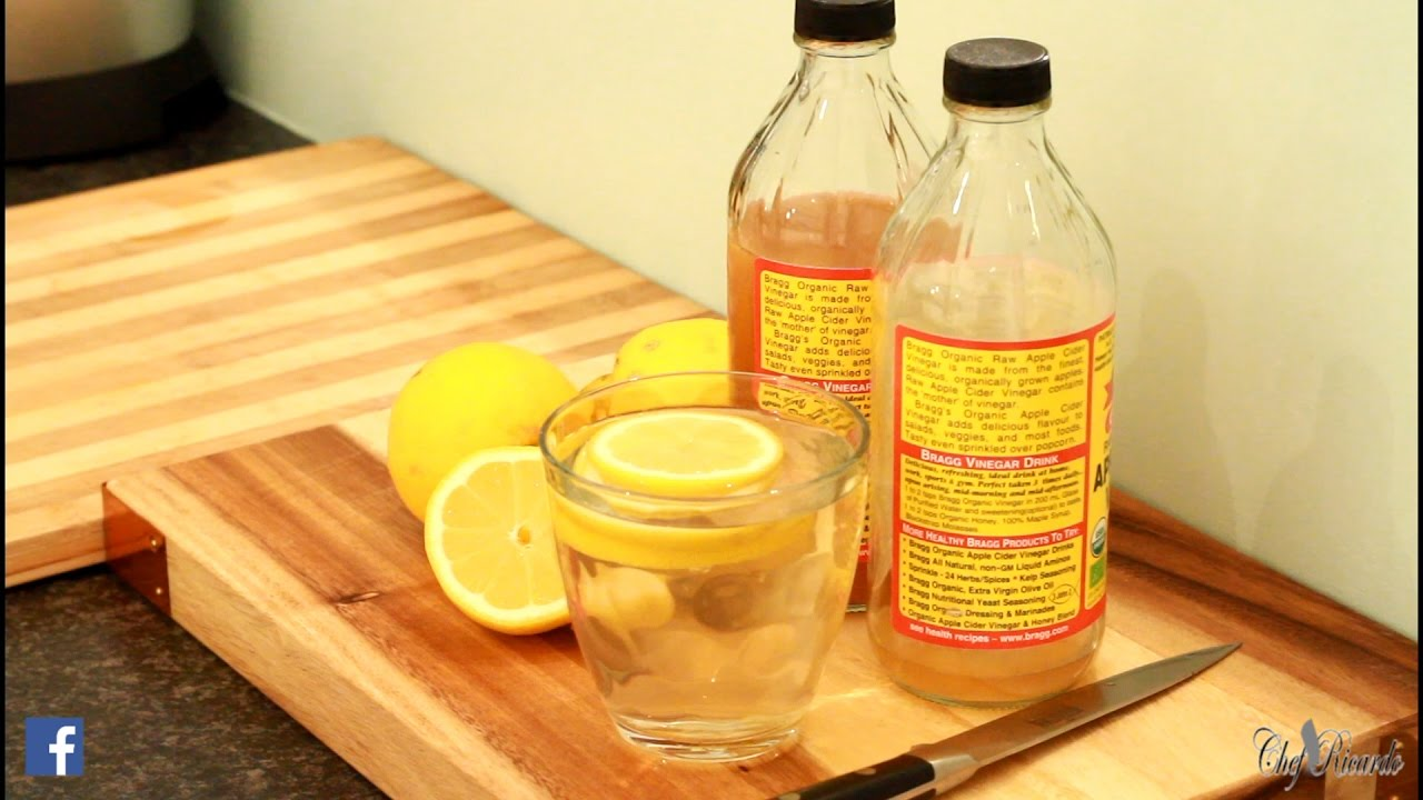 apple cider vinegar with lemon juice