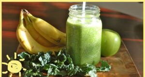green apple and banana smoothie