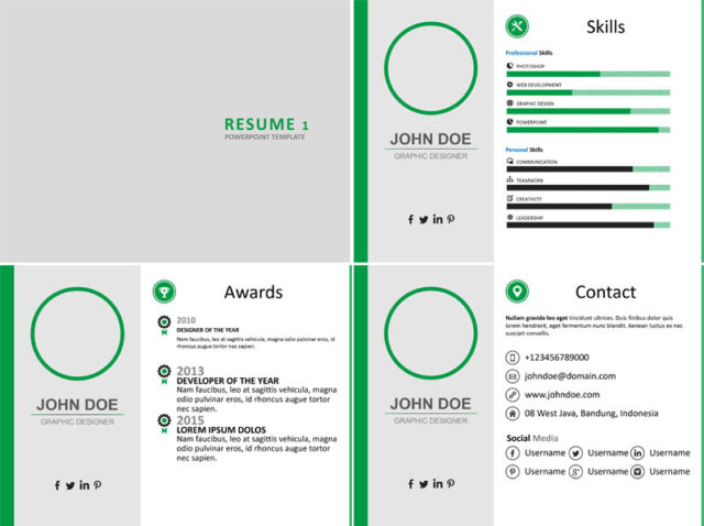 modern infographic powerpoint resume